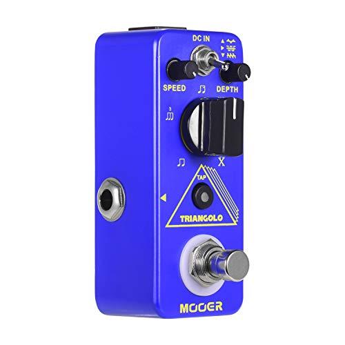 JJmooer Triangolo Pedale tremolo digitale Pedale effetto chitarra elettrica Pedale compatto True Bypass serie Micro
