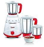 Prestige Viva 550-Watt Mixer Grinder with 3 Jars (Red)