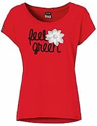 erima mujer T-Shirt Feel Green Rojo rojo Talla:38