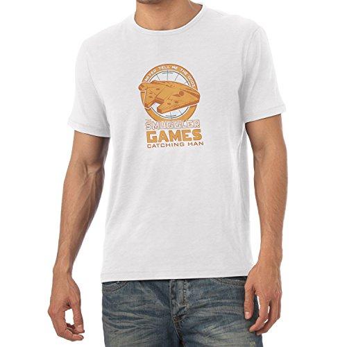 NERDO - The Smuggler Games - Herren T-Shirt, Größe M, weiß (Hunger Games Kostüme Für Jungen)