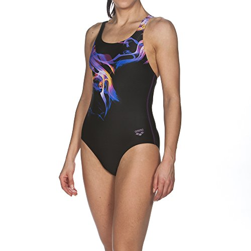 ares5Arena da donna sport Pegasus Costume da bagno Nero/Plum