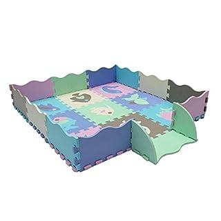 Unbekannt PER 23 STÜCKE Bunte Schaum Spielmatte Cartoon Puzzle Krabbeln Matte Bodenfliesen Teppich für Kinder Kleinkinder