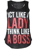 (womens act like a lady racerback vest top) (sty) femmes agir comme une dame gilet haut