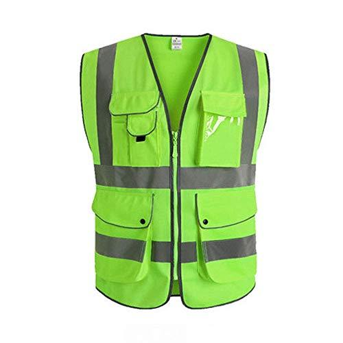 Reflektierende Weste, Verkehrssicherheitsweste Straßenbau Hygiene Worker Night Reflective Coat (Farbe : D, größe : M) -