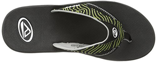 Reef Fanning, Tongs homme Multicolore - Mehrfarbig (BLACK/GREEN SWE / KRS)