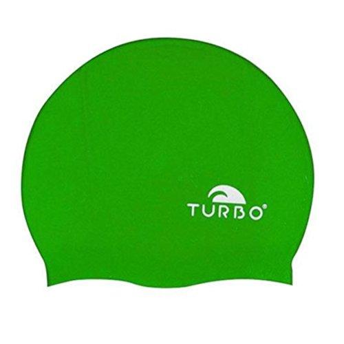 Turbo Silikon Badekappe Schwimmen und Wasserball für Herren Einheitsgröße grün