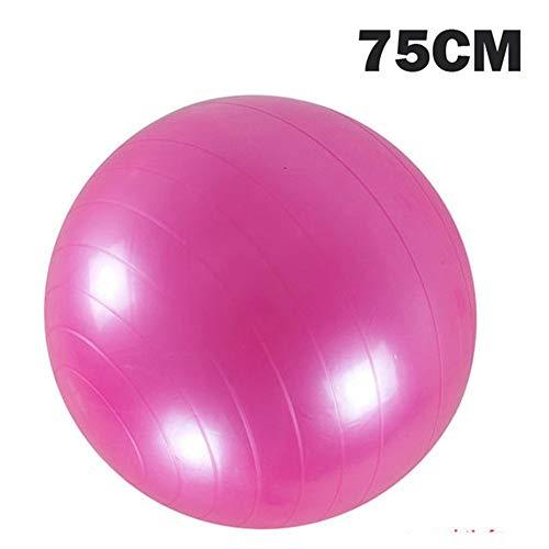 Sport Yoga Bälle Bola Pilates Fitness Gym Balance Fitball Übung Pilates Workout Massageball 45cm 55cm 65cm 75cm Pink3 75CM