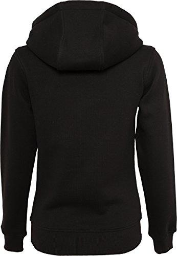 Mister Tee Ladies NASA Insignia Hoodie - Damen Streetwear Kapuzenpullover in den Farben Schwarz und Grau, Größe XS bis XL black