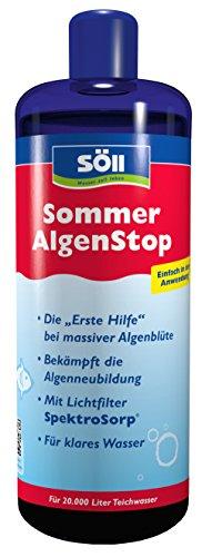 Söll 18763 Algenbekämpfung SommerAlgenStop, gegen hartnäckige Algen im Gartenteich - Algenmittel gegen Fadenalgen, 1 x 500 ml, rot