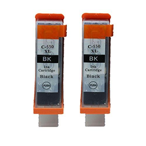 Preisvergleich Produktbild Generisch Kompatible Tintenpatronen Ersatz für Canon PGI 550XL 550 XL CLI 551XL 551 PGI-550 PGI-550XL CLI-551 CLI-551XL PGI-550XL CLI-551XL Tintenpatronen Hohe Kapazität kompatibel für Canon PIXMA MG5450 MG5550 MG6350 MG6450 MG7150 Ip7250 MX925 MX725 IX6850 IP8750 Tintenpatronen für Inkjet Drucker (2 Grossen Schwarz)