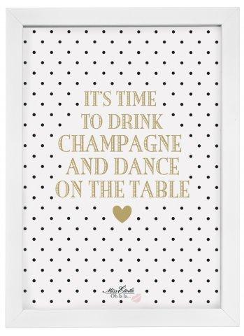 Preisvergleich Produktbild Miss Etoile Poster mit Rahmen 'It's time...'