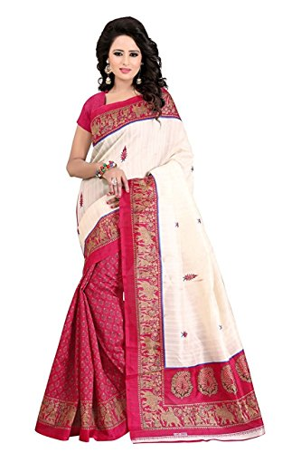 FabDiamond Sarees for Women Latest Design Sarees New Collection 2017 Sarees below 1000 Rupees 500 Rupees Sarees for Women Partywear Latest Design Wedding Collection Sarees for Women below 500 Latest sarees for Women Party wear Offer Designer Sarees Sarees Combo Saree New Collection Today Low Price (FabDiamond Women's Georgette Sarees With Blouse Piece) (Pink)  available at amazon for Rs.499