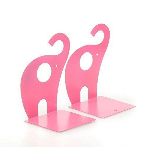 Niedlicher Elefant Buchstütze für Kinder, Metall Buchstütze, Buchstützen fürs Baby-Kinderzimmer, Kinderzimmer Dekor (Rosa) -