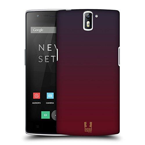 Head Case Designs Sfumato Marsala Trends Cover Retro Rigida per OnePlus One