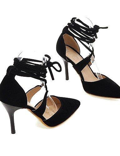 LFNLYX Scarpe Donna-Sandali-Formale / Serata e festa-Tacchi / D'Orsay / A punta-A stiletto-Microfibra-Nero / Rosso / Beige Red