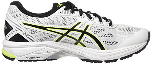 Asics T6a3n0107, Chaussures de Running Entrainement Homme Blanc Cassé (White/safety Yellow/black)