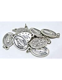 Virgen milagrosa + logotipo 2 original con anillo de plata 10 Medallas