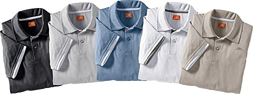 Nordcap Poloshirts/Funktionsshirts, 5er Pack hochwertige Herren Kurzarm-Polos (Größen: M - XXXL, Farben: Beige, Weiß, Graublau, Grau, Schwarz)