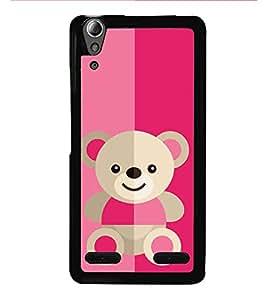 HiFi High Glossy Designer Phone Back Case Cover Lenovo A6000 Plus :: Lenovo A6000+ :: Lenovo A6000 ( Cute Doll Teddy Colorful Pattern Design )