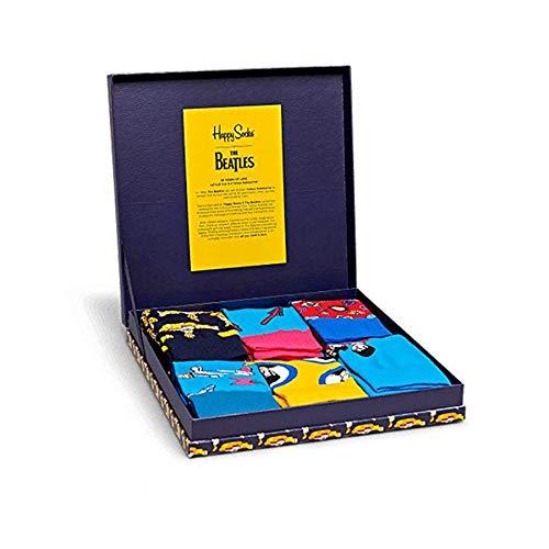 Happy Socks The Beatles Herren Geschenkset Mehrfarbig, The Beatles Collector Gift Box, 41-46