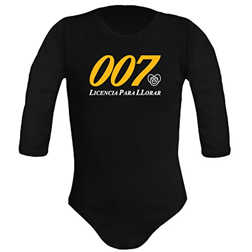 Body bebé unisex. Agente secreto Parodia James Bond 007 - Licencia pa