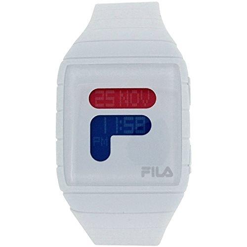 Fila unisex mondo tempo Display digitale con cinturino bianco pu oro fl38015001