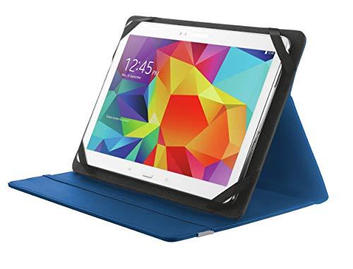 Trust Primo Tablet Universal Hülle (mit Stand für Samsaung Galaxy Tab A, Huawei MediaPad, Lenovo Tab oder Tablets bis 25, 7 cm (10,1 Zoll)) blau