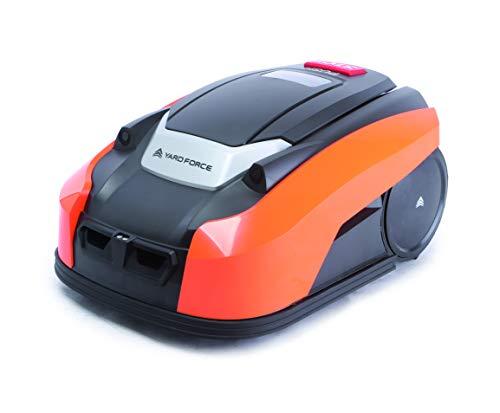 YARD FORCE X60i Mähroboter mit App-Steuerung - Selbstfahrender Rasenmäher Roboter mit Regensensor - Akku Rasenroboter für bis zu 600m² Rasen & 40{0cc438dfb1a40ae6b00e81c90ea2b49487558e4bab6fe8312f7cbcd962ffb4d5} Steigung 28 V, schwarz/orange