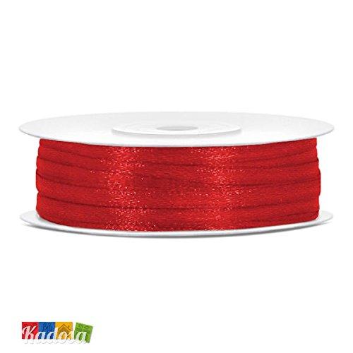 Rotolo nastro satin rosso h 3 mm x 50 mt - raso decorazione bomboniere matrimonio laurea natale san valentino