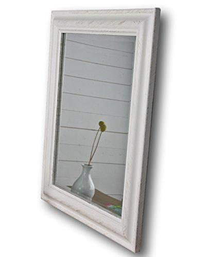 Elbmöbel 62 x 52 cm Espejo de Pared Blanco de Madera Marco de Fotos de Madera para baño