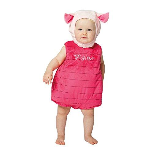 Disney Baby DCPIG-TA-06 - Kostüm - Ferkel - Fleece Spieler mit Kapuze, rosa