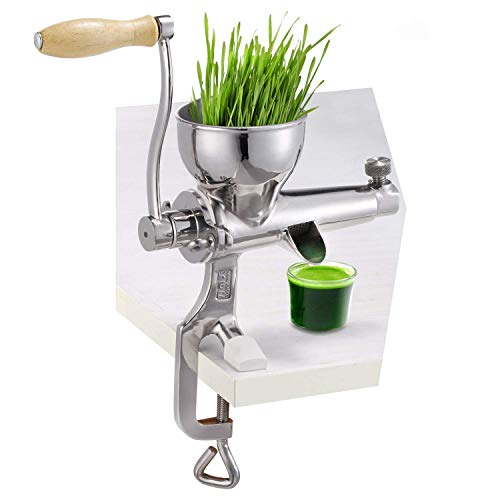 Edelstahl manuelle Hand Weizengras Weizengras langsam Entsafter Gemüse Orange Extraktor Maschine