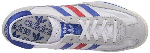 adidas Originals SL 72 Unisex-Erwachsene Sneakers Mehrfarbig (White/Satellite/Poppy)