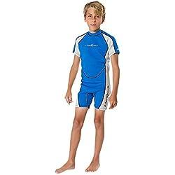 Neosport combinaisons de plongée Youth Premium en néoprène 2mm Youth de Shorty, Homme, Blue/Platinum
