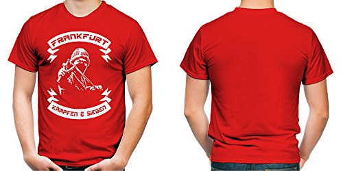 Frankfurt kämpfen & siegen Männer und Herren T-Shirt | Fussball Ultras Geschenk | M2 Rot