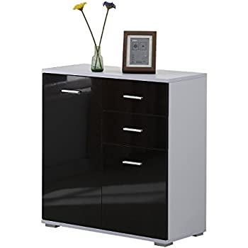 Homcom Modern High Gloss Side Cabinet Table Sideboard Chest Of Drawer  Bedroom Living Room Storage Furniture Part 92