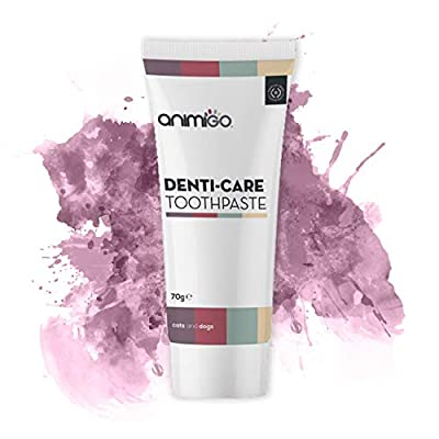 Animigo Denti-Care Toothpaste - Edible Toothpaste For Cats & Dogs - Cleans Teeth and Freshens Breath - Natural Ingredients Including Eucalyptus, Parsley & Cinnamon Oil - Rich in Calcium - 70g Paste from Animigo