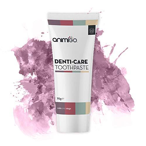Animigo Denti Care Zahnpasta | Essbare Zahnpasta für Hunde und Katzen | Gesunde und Gepflegte Zähne | Natürliche Dentalpflege | Maulpflege | Atemerfrischung | 70g -