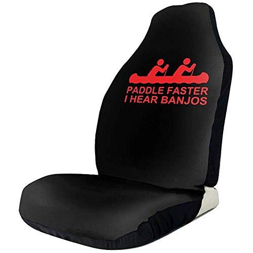 Tridge Sportfan Sitzbezüge Paddel schneller Ich höre Banjos Film Auto Vordersitzbezüge für Frauen Set of Fit die meisten Fahrzeug