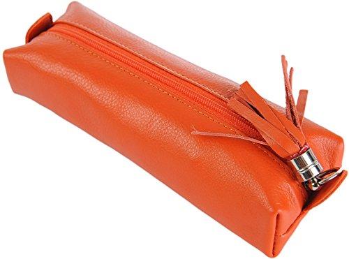 PRIMEHIDE Cuir produits de beauté fais- haut Bijoux Boite À Crayons Divers Couleurs 700 - Orange