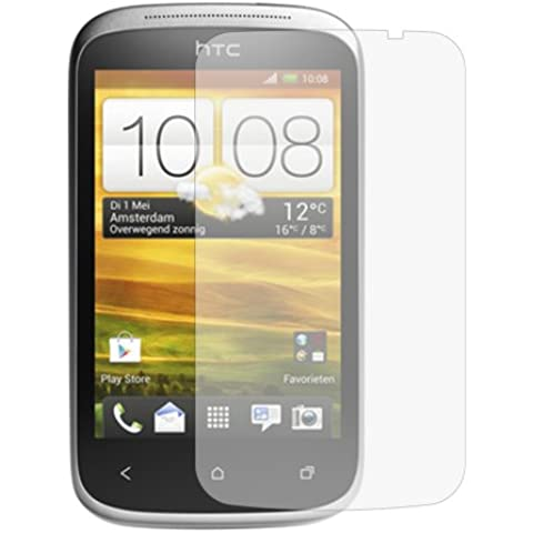 6 x Protectores de Pantalla para HTC Desire C - Láminas de protección / Clear Screen Protectors