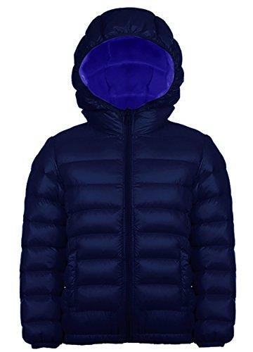 Jungen Outdoor Daunenjacke Sweatjacke Daunen Jacke winter kälteschutz Dunkelblau 160