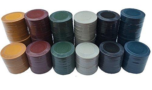 1000x CHEAP Poker Roulette Casino Chips/Spielsteine–erhältlich in 6Farben (rot) MIX OF 6 (Apparel Blank)
