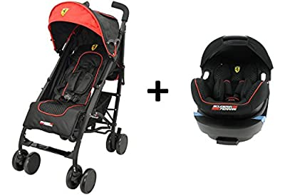 Cochecito Ferrari ligera y COMPACT + Grupo 0+ (de 0a 13kg) Grand Confort-Creación francesa-rojo