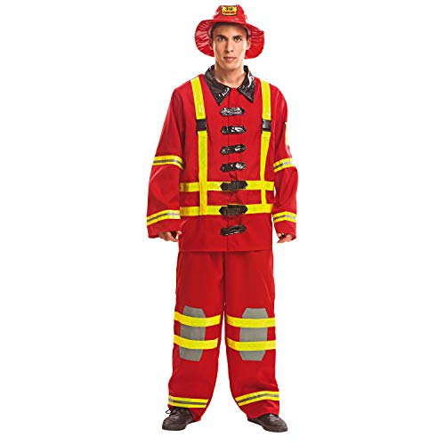 My Other Me Me - Disfraz de bombero para hombre, M-L (Viving Costumes 200977)