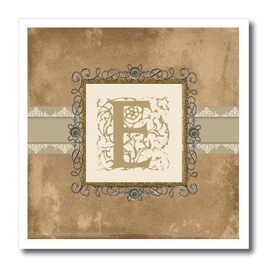 3drose HT _ 186351_ 2E Initiale Vintage elegante Ranken und Blumen in Sepia und Zinn look-iron auf Heat Transfer Papier Für weiß Material, 6von 6