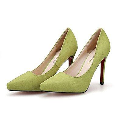 Moda Donna Sandali Sexy donna caduta tacchi Comfort Felpa casual Stiletto Heel altri nero / giallo / il verde / rosa / grigio altri Green