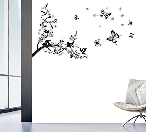 Wandtattoo Blumenranke Ast Wohnzimmer Ornament Schlafzimmer Wandaufkleber Wandsticker