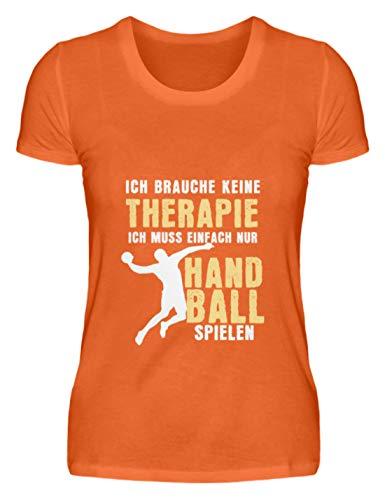 Schuhboutique Doris Finke UG (haftungsbeschränkt) Keine Therapie sondern Handball Spielen - Damenshirt -XXL-Mandarin Orange