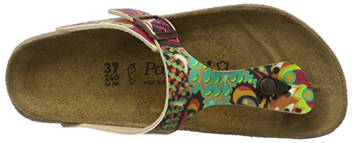 Papillio Gizeh Birko-Flor, Tongs Femme, Beach Purple Rot (African WAX Raspberry)